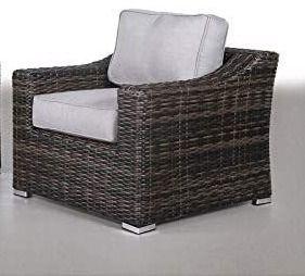 Rattan Club Chair with Cushions