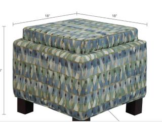 Square storage ottoman