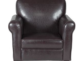 HomePop Kids Faux leather Accent Chair with Rolled Arms   Retail 89 99