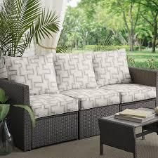 Sunbrella Resonate Dune Corded Sofa Cushion and Pillow Set  Set of 6  Retail 225 49
