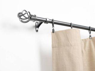 Miranda Haus Spiral Glacier Grey Iron Expandable Curtain Rod