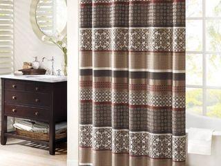 Madison Park Harvard Jacquard Shower Curtain 2 Color Option