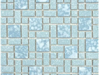 SomerTile 11 75x11 75 inch Academy Blue Porcelain Mosaic Floor and Wall Tile  10 tiles 9 8 sqft