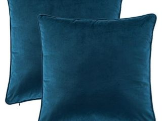 Gracewood Hollow Osmanagic 20 inch Square Solid Velvet Pillow Covers  Set of 2