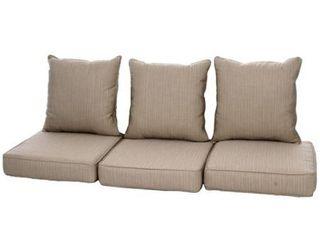 Clara Indoor  Outdoor Wicker Sofa Cushion Set made with Sunbrella Fabric  Retail 528 49