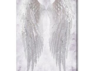 Oliver Gal  Wings of Angel Amethyst  Fashion and Glam Wall Art Canvas Print   White  Retail 129 99