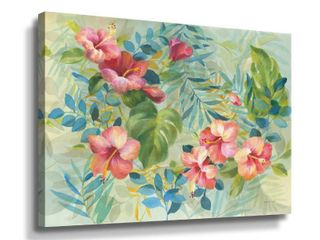 ArtWall Hibiscus Garden II Gallery Wrapped Canvas  Retail 137 99