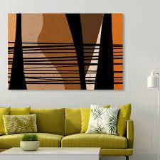 Oliver Gal  The Zoo  Abstract Wall Art Canvas Print   Brown  Black  Retail 206 49