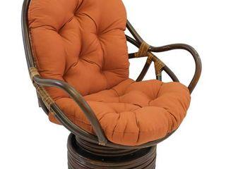 Blazing Needles 48 inch Swivel Rocker Cushion   48 l x 24 w x 5 d