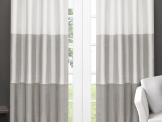 Porch   Den Ocean Striped Window Curtain Panel Pair with Grommet Top