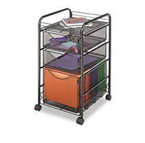 Safco Onyx Mesh Drawer File Cart  Retail 99 98