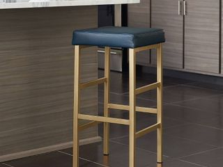 Porch   Den Moscato Gold 26 inch Backless Stool  Retail 108 49