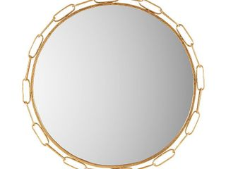 Madison Park Signature Chainlink Gold Finish Metal Frame Round Decor Mirror   38 5 w x 1 18 d x 38 5 h  Retail 99 99