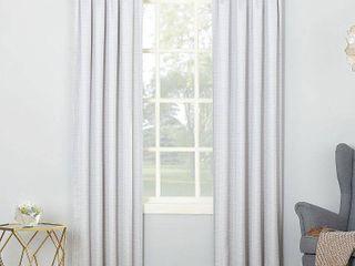Sun Zero Riku Thermal Insulated Room Darkening Rod Pocket Curtain Panel Pair