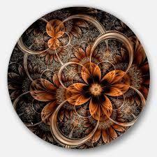 Dark orange fractal digital art