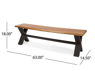Brandywine outdoor rectangle wooden table bench