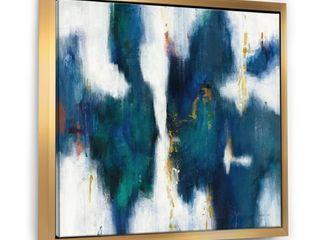 Designart  Blue Glam Texture I  Contemporary Framed Canvas   Blue  Retail 112 49
