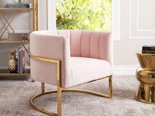 Abbyson Celine Channel Tufting Velvet Accent Chair  Retail 536 49