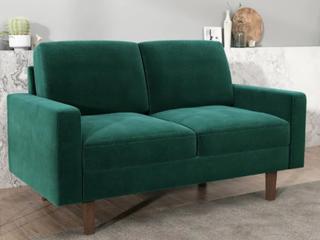 Carson Carrington Paajarvi Modern Velvet 2 Seater loveseat  Retail 399 99