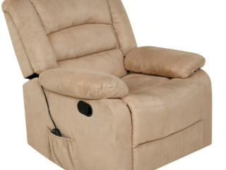 Copper Grove Tynwald Rocker Recliner with Heat  Massage  and USB in Beige  Retail 447 49