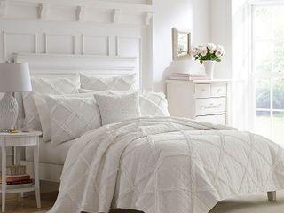 laura Ashley Maisy Cotton Quilt Set  Twin   Retail 99 98
