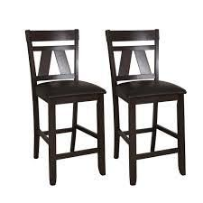 lawson Espresso Two Tone Bonded leather 24 inch Counter Height Barstool  Set of 2  Retail 205 99