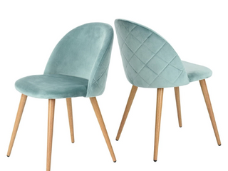 Carson Carrington Saigs Velvet Diamond Dining Chair  Set of 2  Retail 161 99