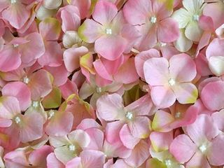 Enova Home 33 Sq ft    12 Panels Pink Hydrangea Artificial Faux Foliage Wall Mat Panel  Retail 260 00