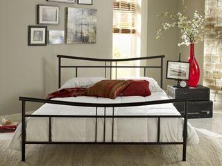 Sleep Sync Abbington Black Platform Bed  Queen   Retail 322 99