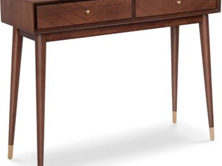 Carson Carrington laggarberg Walnut Brown Mid Century Modern Table  Retail 106 49