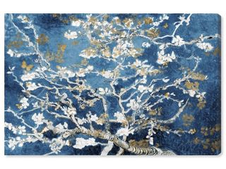 Oliver Gal  Van Gogh in Butterfly Blossom Dreams  Classic and Figurative Wall Art Canvas Print Classic   Blue  Gold  Retail 202 49