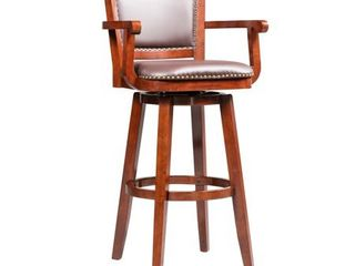 Broadmoor Extra Tall Cherry Brown Swivel Wood Stool  Retail 163 99