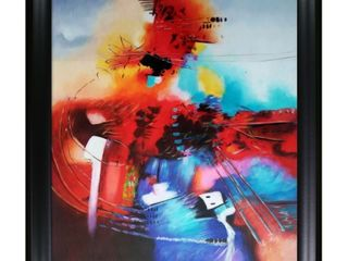Celito Medeiros  Abstract II  Hand Painted Framed Oil Reproduction on Canvas  Retail 259 99