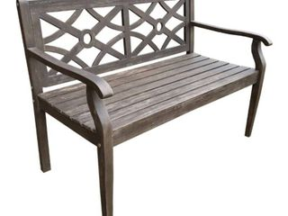 Courtyard Casual Crestview Acacia Wood 48  Bench with lattice look Back  Retail 196 99