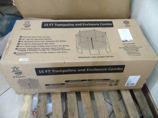 15 Foot trampoline and Enclosure