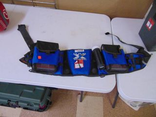 H2O Express   Fishing Belt   with Boxes and Rod Holder