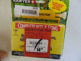 Sawyer   Complete Bite and Sting Extractor