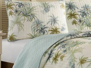Tommy Bahama Home Serenity Palms Quilted Standard Sham