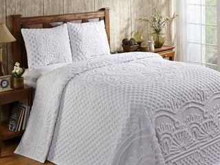 Better Trends Trevor Full Double Bedspread with 2 Standard Shams  Sage