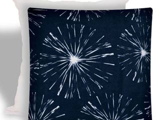 Joita FIREWORKS Navy Indoor Outdoor   Zippered Pillow Cover with Insert   1 Piece   Navy