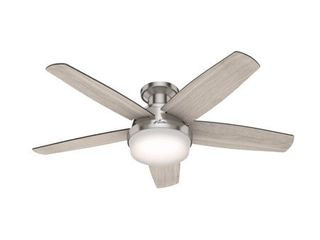 Hunter Avia 48 lED low Profile Brushed Nickel Avia 48  5 Blade led Ceiling Fan