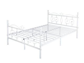 Furniture R Emberly Full Platform Bed   White   Full