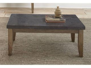 Danni Coffee Table with Stone Top by Greyson living   48 W x 26 D x 20 H