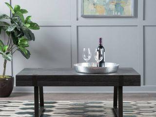 Abitha Faux Wood Coffee Table by Christopher Knight Home   BlACK