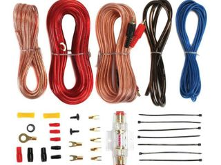 Soundstorm 8 Gauge Car Amplifier Amp Complete Kit Wiring Installation with RCA