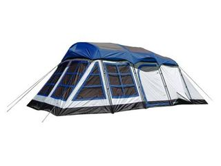 Tahoe Gear Glacier 20 x 12  14 Person 3 Season Family Cabin Tent  Blue and White