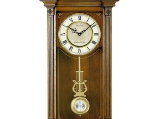 Bulova C4331 Hartwick Old World Clock  Walnut Finish