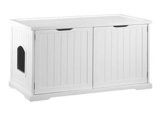 Merry Products Cat Washroom Bench   White