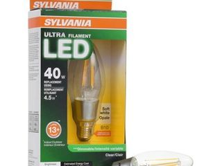 Sylvania Vintage lED light Bulb  B10  40W Equivalent  Candelabra  Soft White