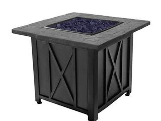 Blue Rhino Endless Summer Outdoor Propane Gas Blue lava Rock Patio Fire Pit